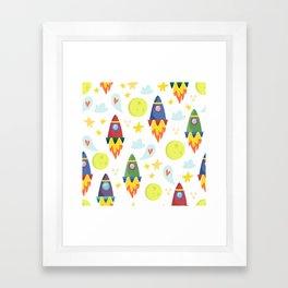 Rocket Ships Framed Art Print