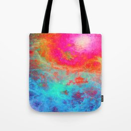 Galaxy : Bright Colorful Nebula Tote Bag