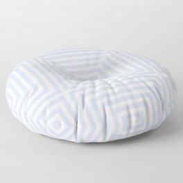 Pale Blue Gray Diamonds Floor Pillow