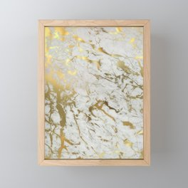 Gold marble Framed Mini Art Print