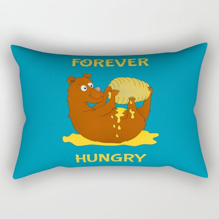 Hungry Bear Eating Honey Rectangular Pillow