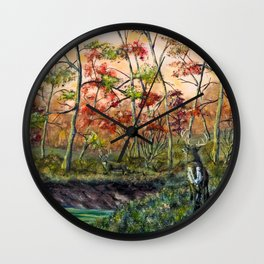 Old Rivals Wall Clock