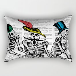 Calavera Cyclists Rectangular Pillow