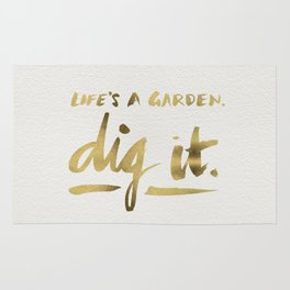 Dig It – Gold Ink Rug