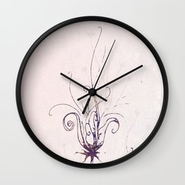 Whimsical Wilde Flower Wall Clock