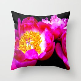 Spring Peonies  Throw Pillow