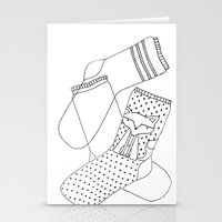 socks Stationery Cards featuring Socks.  by novacaeli