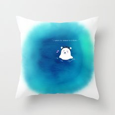 i want to leave to travel... Throw Pillow