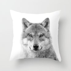 Wolf Photography [wild animal_forest animal_fine art animal photography_poster animal_animal photo] Throw Pillow