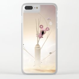 Koala and time Bunny Clear iPhone Case