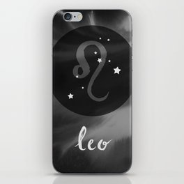 Leo Zodiac Watercolor iPhone Skin