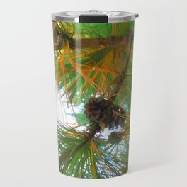 Beautiful fir tree branch with cones Travel Mug
