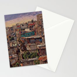 Guatemala City Slum Artistic Illustration Old and Chaotic Style Stationery Cards