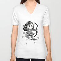 kili V-neck T-shirts featuring Kili Chibi by KuroCyou