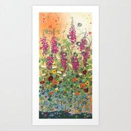 Fireweed in Melon Art Print