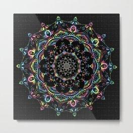 Transcendental Dream Coloured Mandala Design Metal Print