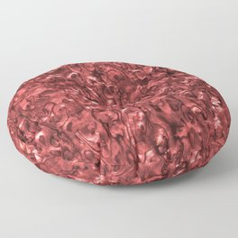 Abalone Shell | Paua Shell | Sea Shells | Patterns in Nature | Red Tint | Floor Pillow