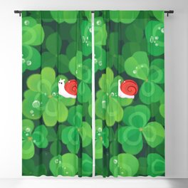 Happy lucky snail Blackout Curtain