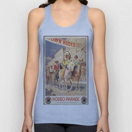 Vintage poster - Rodeo parade Unisex Tank Top