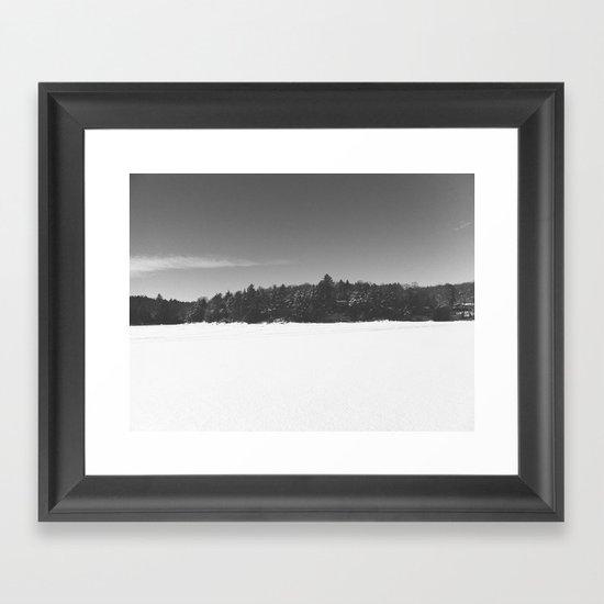 Kenisis Lake winter Framed Art Print