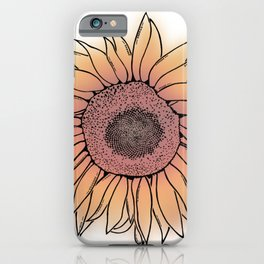 Mother Nature's Genius - Black Outline with colour iPhone Case