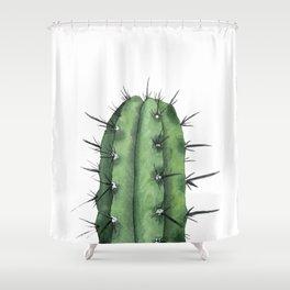 Watercolor Cactus Shower Curtain