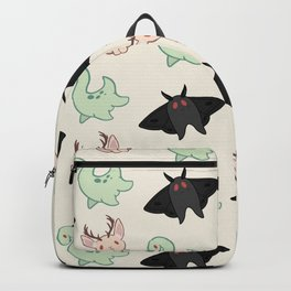 Cryptid Mothman Jackalope Nessie Lochness Pattern Backpack