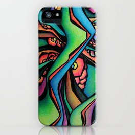 Abstract Intertwining green iPhone Case