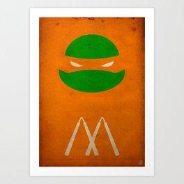 TMNT Mikey poster Art Print