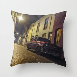 Havana Streets Throw Pillow