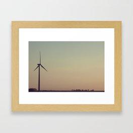 Midwestern summer sunset Framed Art Print