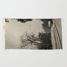 forest tram Beach Towel