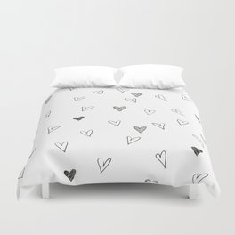 Ink hearts pattern Duvet Cover