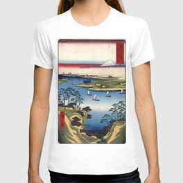 Hiroshige - 36 Views of Mount Fuji (1858) - 11: Wild Goose Hill and the Tone River T-shirt