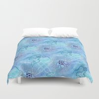 biology Duvet Covers featuring Marine Biology by Antique Images