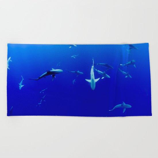Sharks! Beach Towel