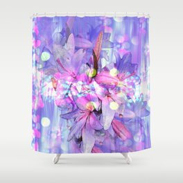 LILY IN LILAC AND LIGHT Shower Curtain