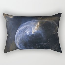 Bubble Nebula in Cassiopeia constellation. Rectangular Pillow
