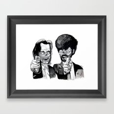 Zombie Fiction Framed Art Print