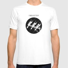 INDUSTRY Mens Fitted Tee White MEDIUM