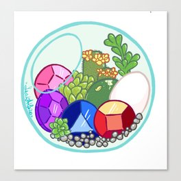 Gems acuarium Canvas Print