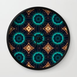 Abstract geometric figure of repetitive shapes. Kaleidoscopic effect Wall Clock