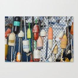 Buoys at Boston Harbor Canvas Print