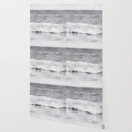 Black and White Ocean Wave Photography, Grey Seascape, Gray Neutral Sea Landscape, Coastal Waves Wallpaper
