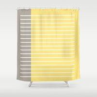 writing Shower Curtains featuring Writing Lines by Alisa Joy