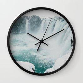 Goðafoss | Edge of the Arctic Wall Clock