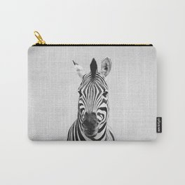 Zebra - Black & White Carry-All Pouch