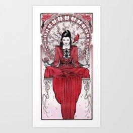 Art Nouveau Evil Queen Art Print