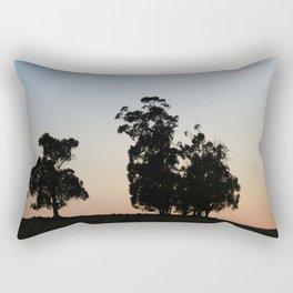 Eucalyptus trees at sunset Rectangular Pillow