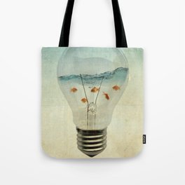 blue sea thinking Tote Bag